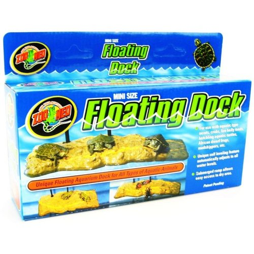 Zoo Med Turtle Dock Mini - Tanks 5 Gallons and Up - (3.5 Inch L x 8 Inch W)