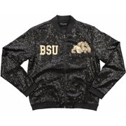 Big Boy Bowie State Bulldogs Ladies Sequins Jacket [Black - L]