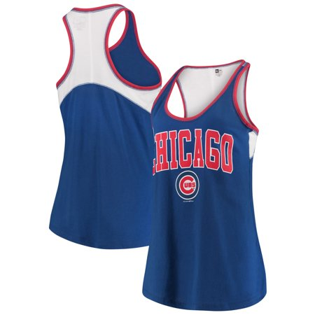 Chicago Cubs 5th & Ocean by New Era Women's Baby Jersey Racerback Tank Top - Royal