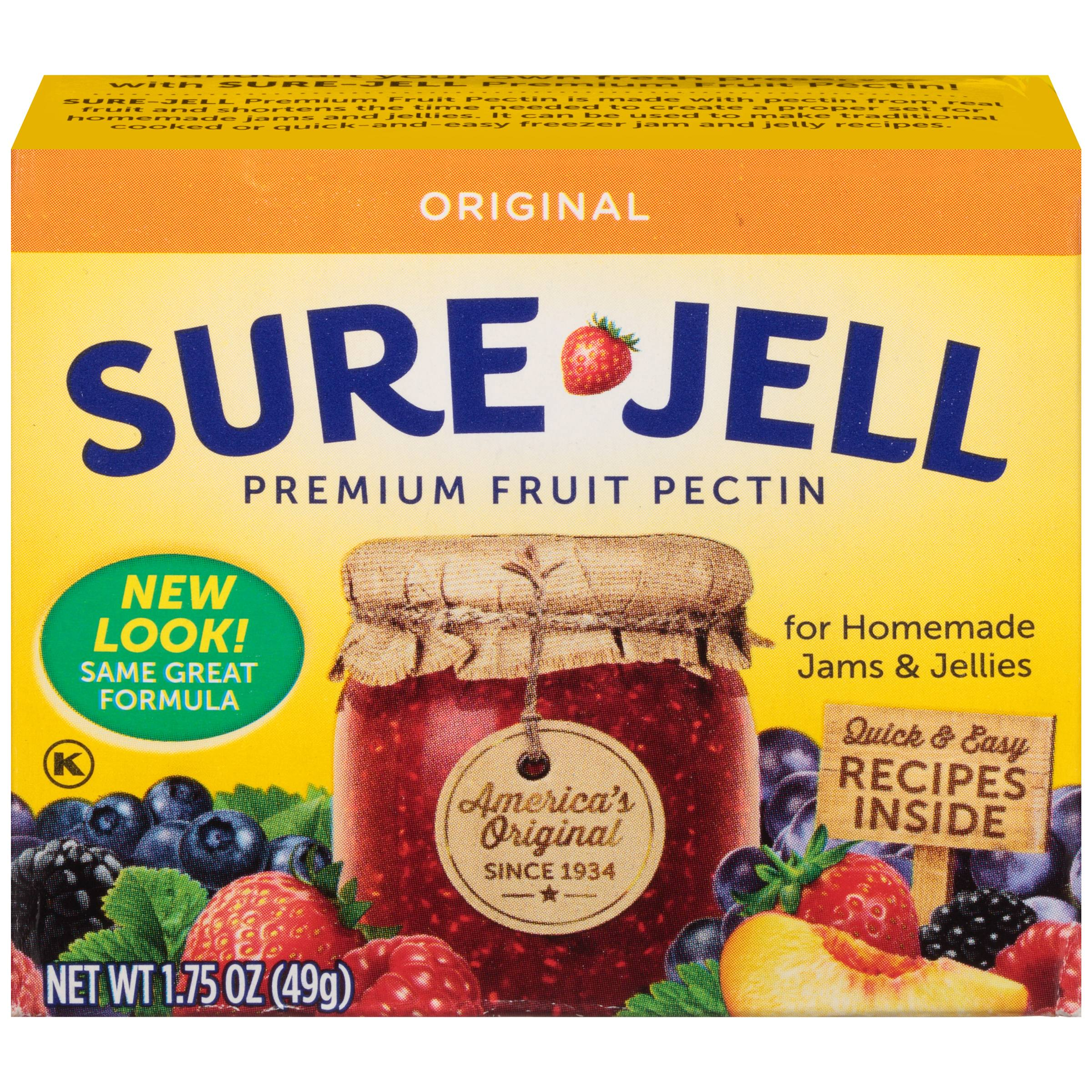 Sure Jell 100 Natural Premium Fruit Pectin 175 Ounce Walmart