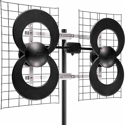 "Antennas Direct C4-CJM ClearStream 4 Extreme Range UHF Outdoor Antenna with 20"" Mount"