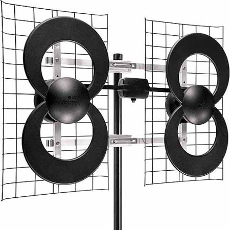 Antennas Direct C4-CJM ClearStream 4 Extreme Range UHF Outdoor Antenna with 20″ Mount