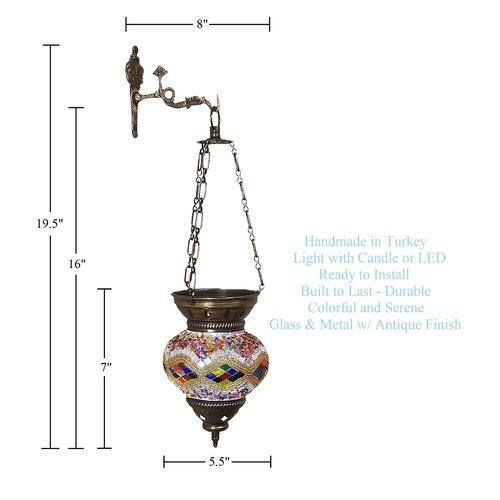 Bloomsbury Market Mosaic Glass Lantern