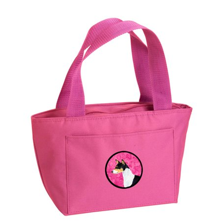 Pink Basenji Lunch Bag or Doggie Bag SS4790-PK