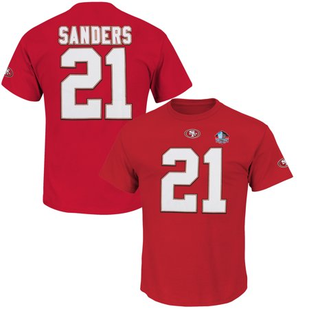 Deion Sanders San Francisco 49ers Majestic Hall of Fame Eligible Receiver II Big & Tall Name & Number T-Shirt -