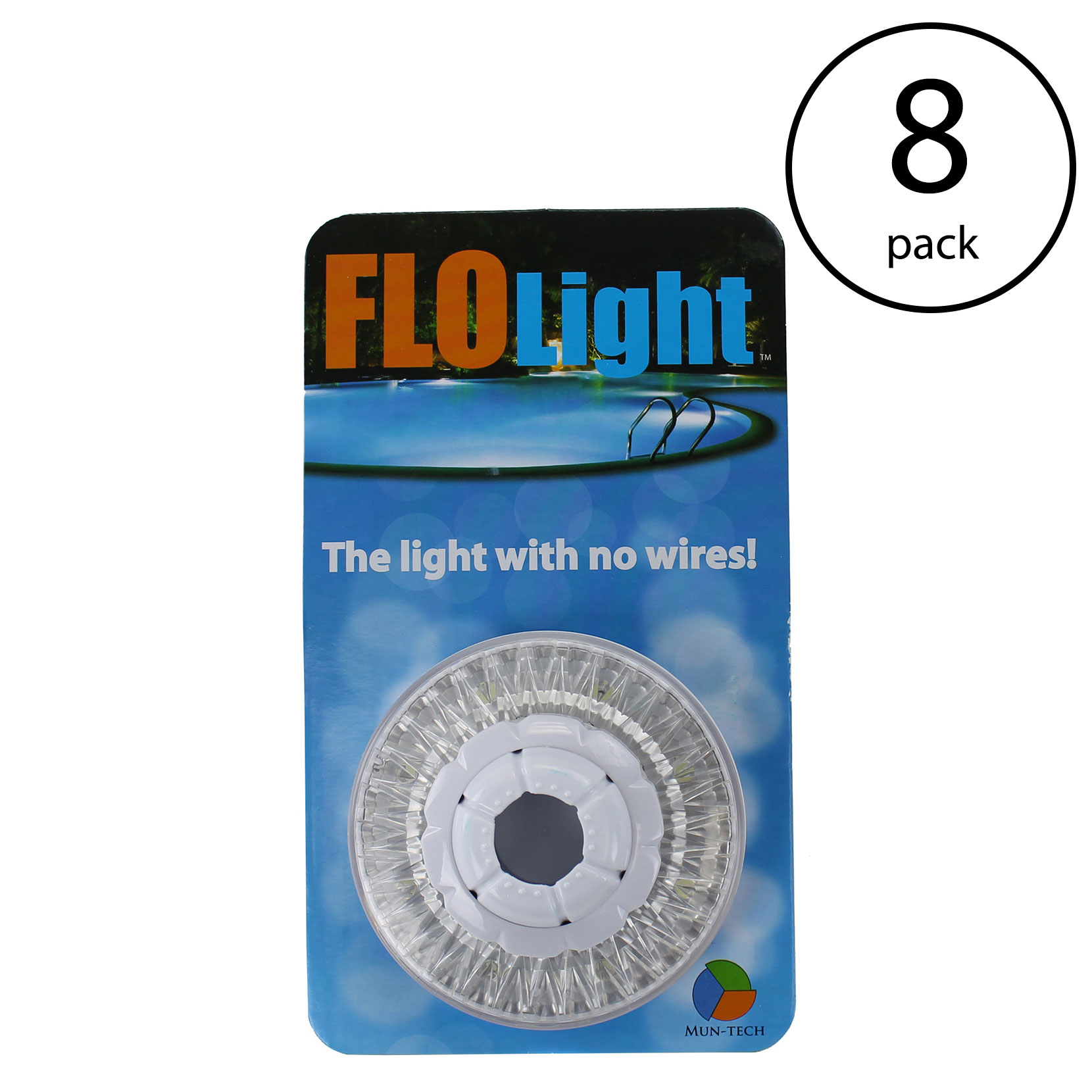 LED Above Ground Swimming Pool Flo Light Wireless Universal FloLight (8 Pack)