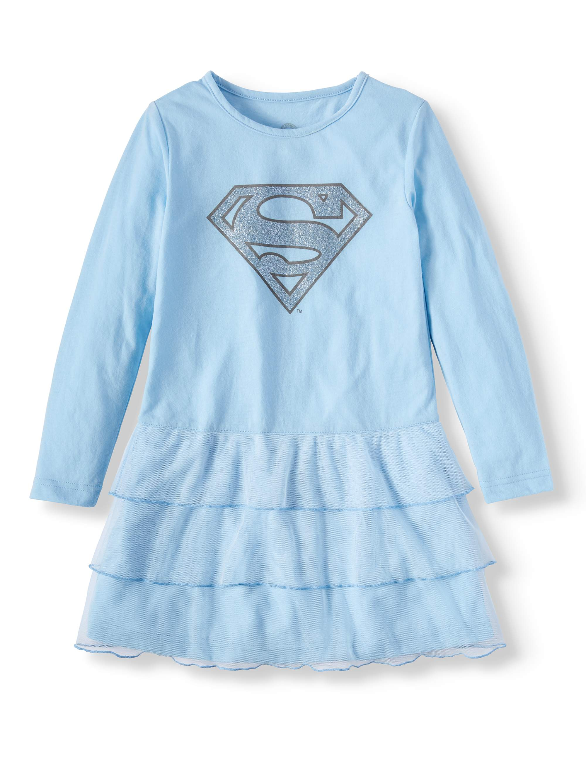 dc girl's supergirl glitter tutu frozen gown (big girls & little girls)