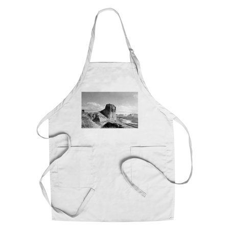 Wyoming   Us Hwy 30 View Of Toll Gate Rock  Green River Photograph  Cotton Polyester Chefs Apron