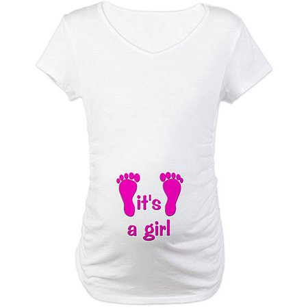7312298c CafePress - Maternity It's a Girl Graphic Tee - Walmart.com