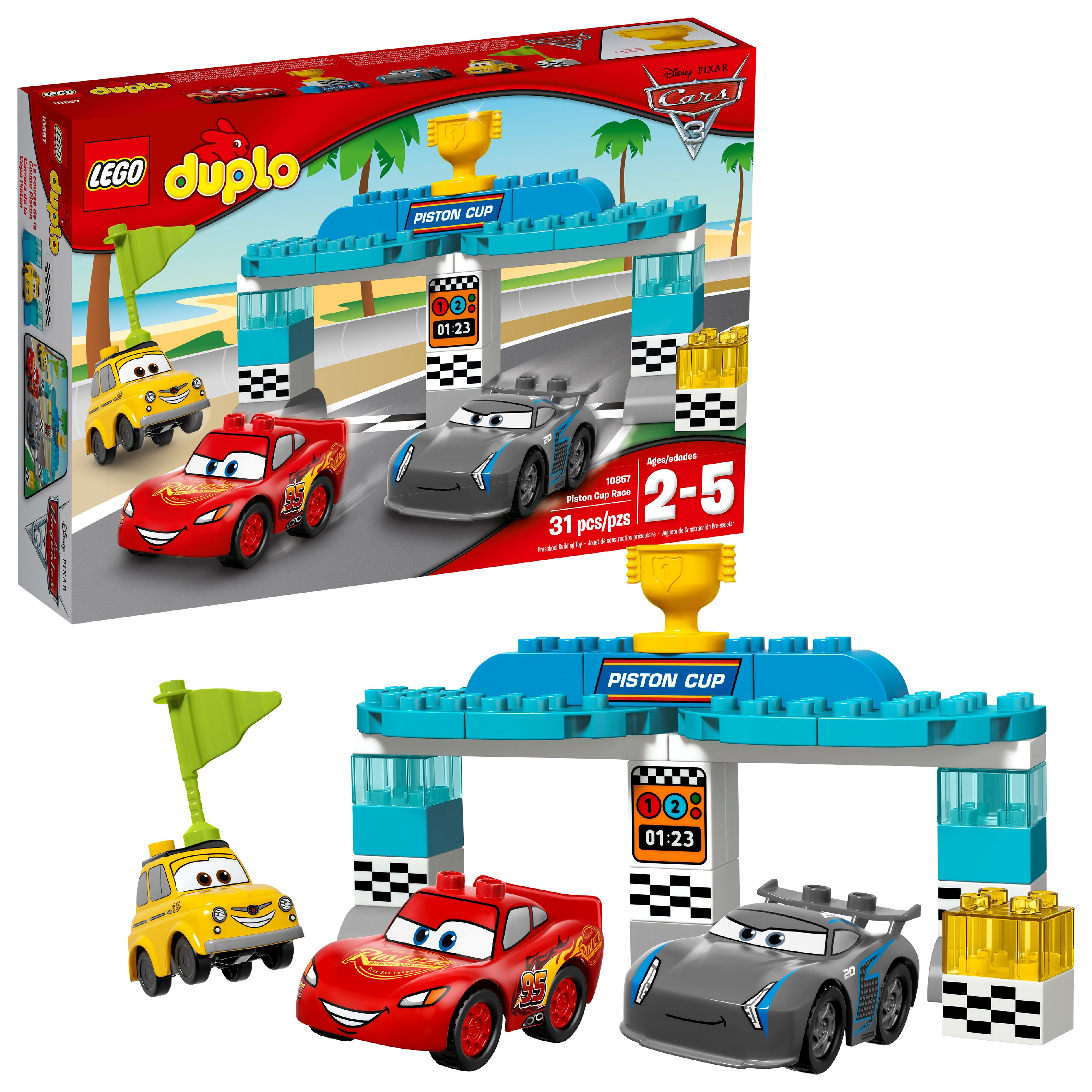 LEGO DUPLO Cars TM Piston Cup Race 10857 (31 Pieces)