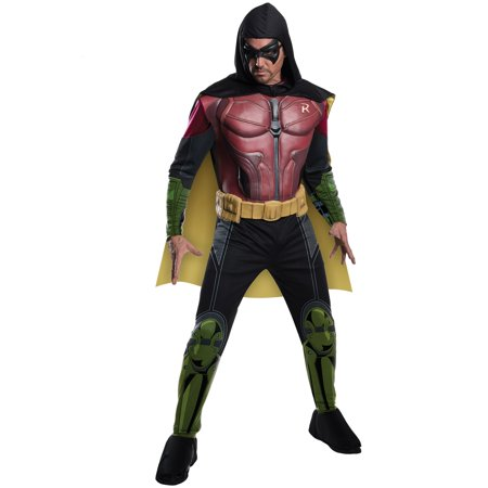 Adult Arkham Robin Muscle Chest Costume - Robin Adult Costume