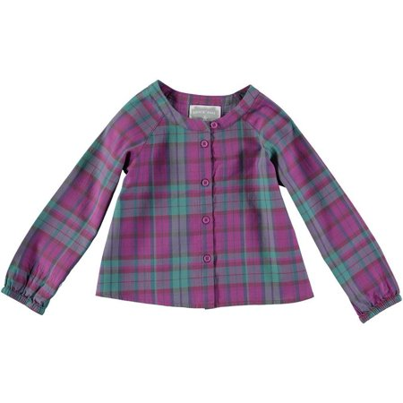 Rockin' Baby Girls Pink Brushed Check Blouse