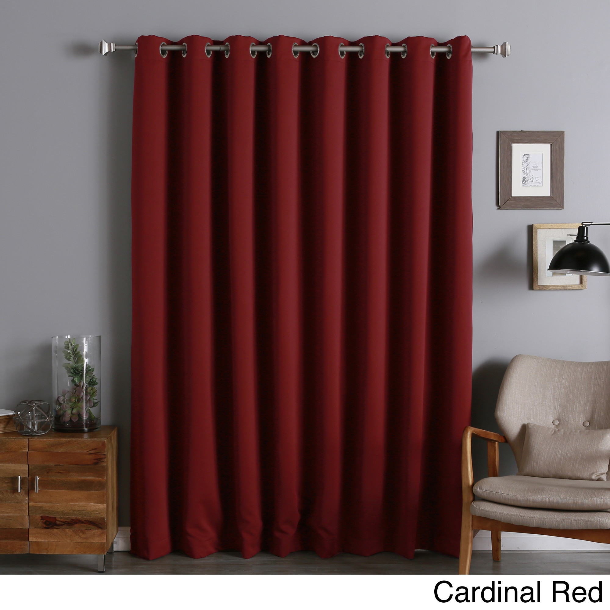 Aurora Home  Extra Width Thermal Insulated 96-inch Blackout Curtain Panel