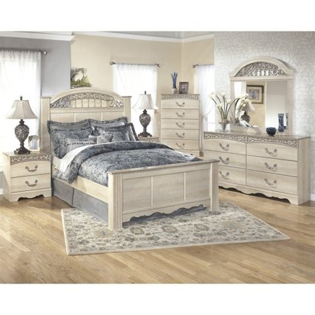 Prime Ashley Catalina 6 Piece Wood Queen Panel Bedroom Set In White Home Interior And Landscaping Mentranervesignezvosmurscom