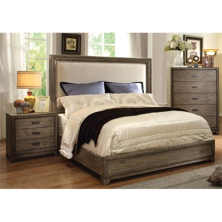 Furniture Of America Muttex 3 Piece Panel California King Bedroom Set
