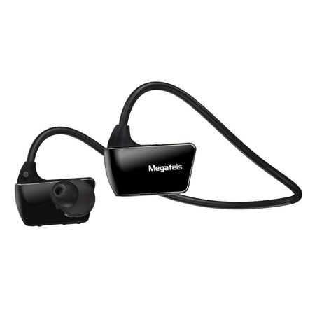 Final Sale -Megafeis E30 8GB Sports MP3 Wearable Wireless Headset MP3 Player (Black) for Running Jogging Walking Gym 256 Mb Wireless Mp3