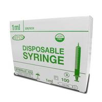 AHS Syringe, 1cc, Luer Slip, 100/BOX