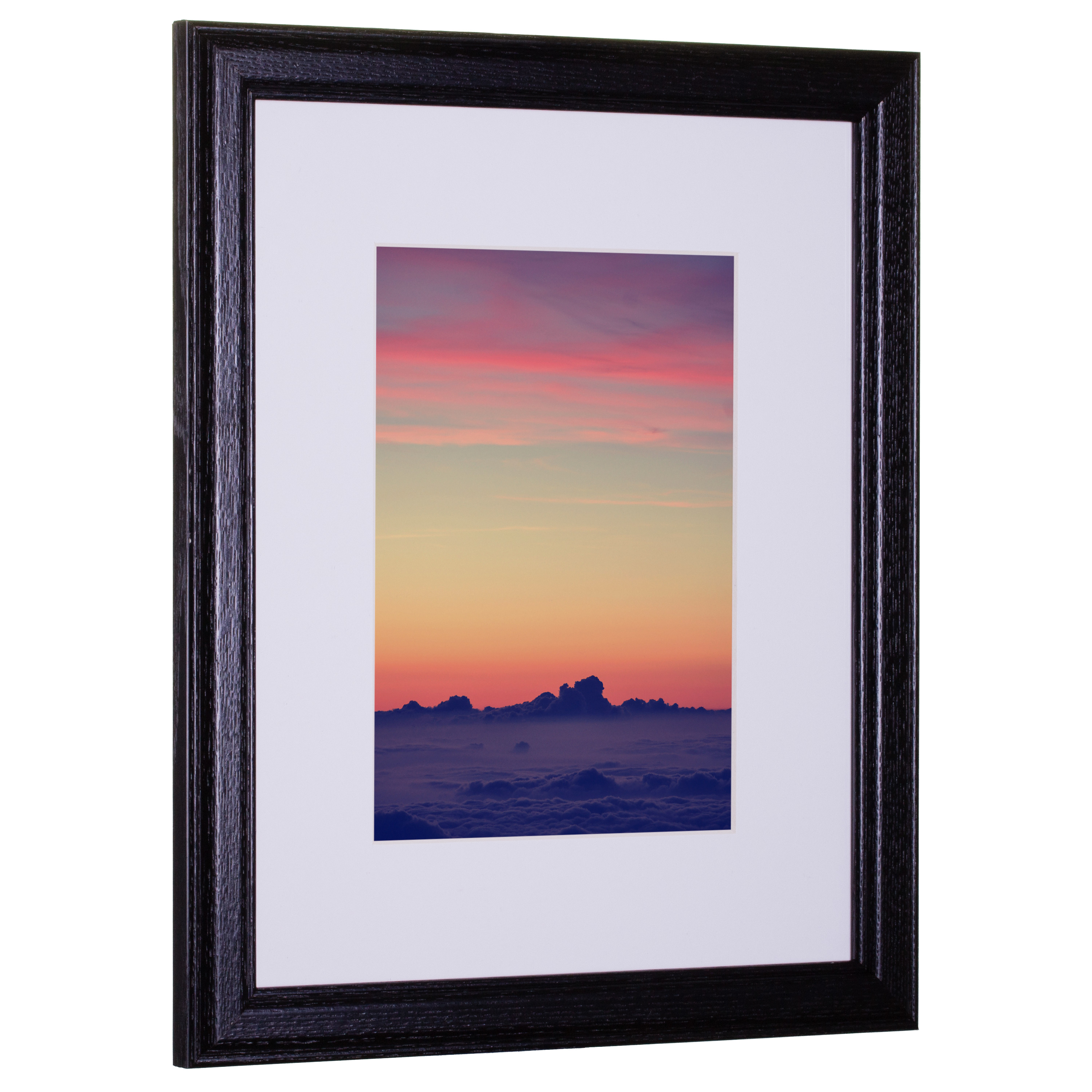 Craig Frames Wiltshire 236 Simple Black Hardwood Picture Frame With