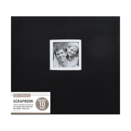 K&Co Scrapbook 12x12 Window Fabric Black
