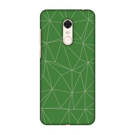 Xiaomi Redmi Note 5 Case - Carbon Fibre Redux Pear Green 14, Hard Plastic Back Cover, Slim Profile Cute Printed Designer Snap on Case with Screen Cleaning Kit
