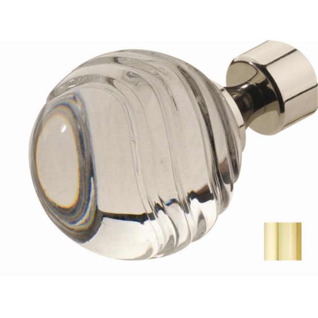 WinarT USA 8. 1122. 20. 04. 280 Carla 1122 Curtain Rod Set -. 75 inch - Polished Brass - 110 inch