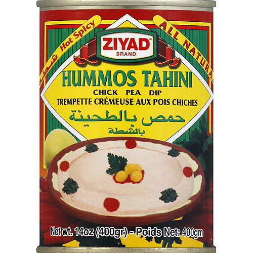 Ziyad Brand Hummos Tahini Hot Spicy Chick Pea Dip, 14 oz, (Pack of 6)
