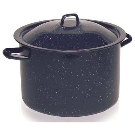 6 Qt Imusa Speckled Stock Pot With Lid Blue