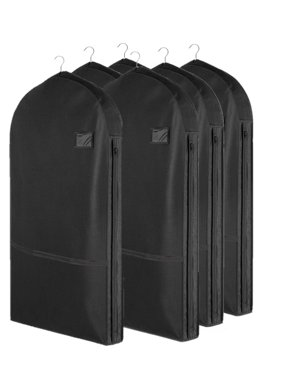 8dd120e170c380 Product Image Living Solutions (6 Pack) Deluxe Garment Bags With Pockets  For Storage Travel Suits Dresses
