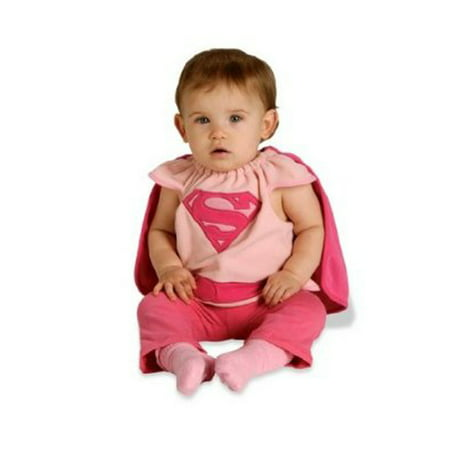 Pink Supergirl Deluxe Infant Halloween - Superman And Supergirl
