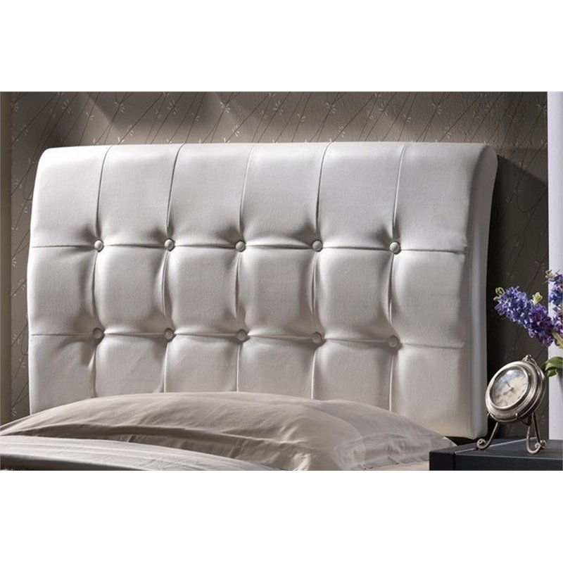 Atlin Designs Tufted King Panel Headboard in White by Atlin Designs