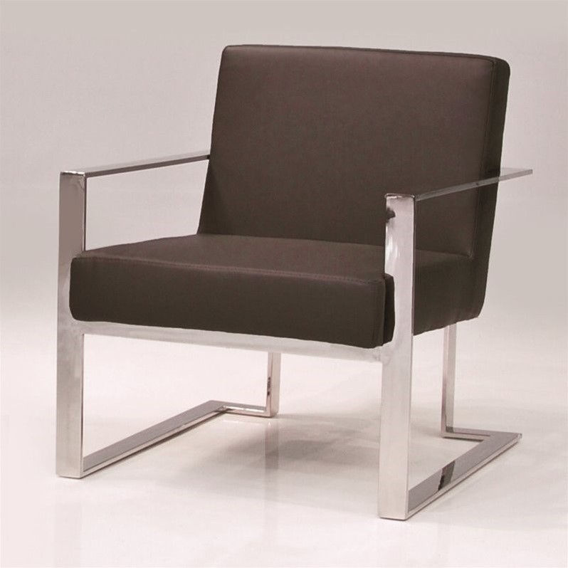 Mobital Motivo Faux Leather Arm Chair in Black