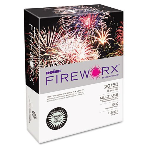 Brand New  Fireworx Color Copy/Laser Paper, 20 lb, Letter Size (8.5 x 11), Popper-Mint Green, 500 Sheets (MP2201-GN), High-quality