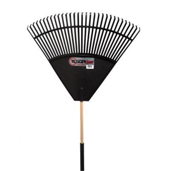 EmscoGroup 2860 Black Poly With Foam Blister Guard Leaf Rake, 32 inch