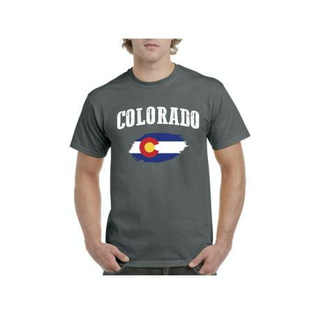 Colorado State Flag Men Shirts T-Shirt Tee Colorado State University Clothing