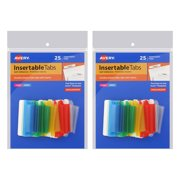 Avery Insertable Index Tabs with Printable Inserts, 1 1/2 Inch, Assorted with White, 50-Count