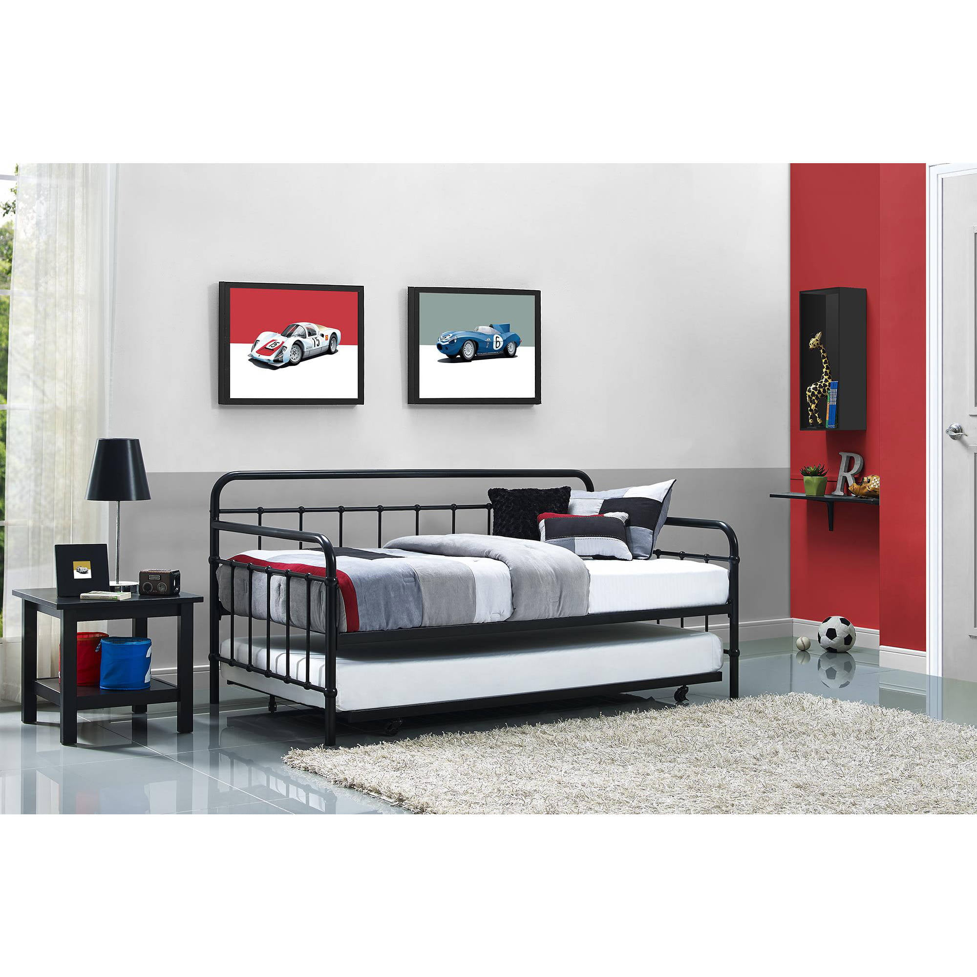 Better Homes and Gardens Kelsey Metal Day Bed & Trundle, Multiple Finishes by Dorel Home Products