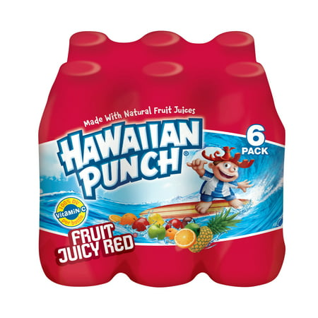 Hawaiian Punch Gluten-Free Fruit Juicy Red Drink, 10 Fl. Oz., 6 Count, 4 Pack