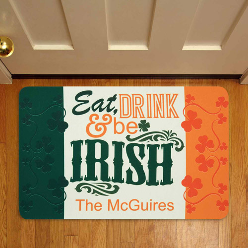 "Personalized Irish Pride Doormat, 17"" x 27"""