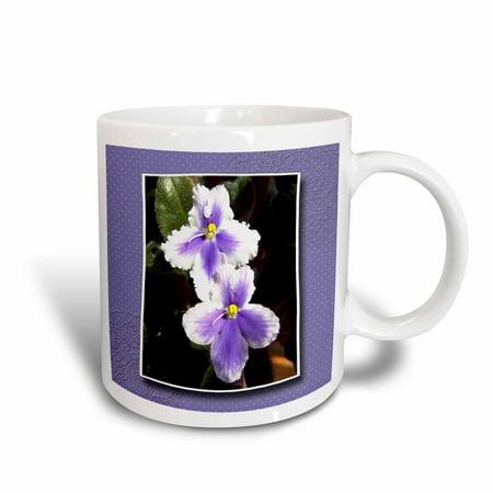 3dRose Violet Flowers, Ceramic Mug, 11-ounce