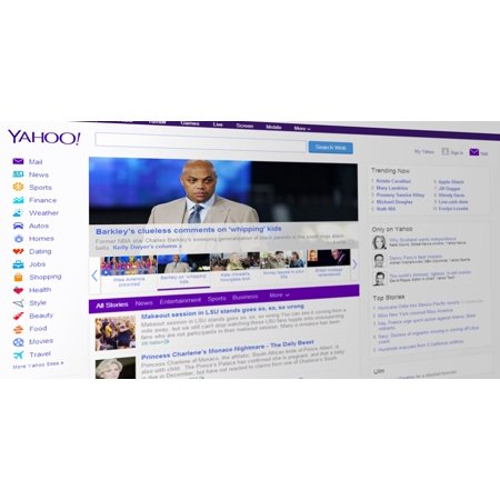 LAMINATED POSTER Website Portal Web Www Search Engine Yahoo News Poster Print 24 x 36 - Idee X Halloween Yahoo