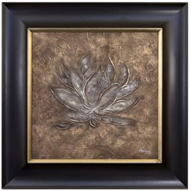 Artmasters Collection JN2008-PW54 Floral Relief IV Framed Oil Painting