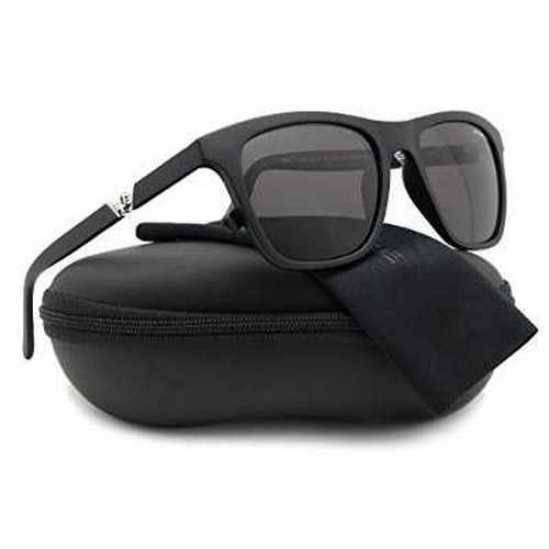 Police S1800M Drift 3 Polarized Sunglasses Matte Black w/Crystal Grey (703P) 1800 703P 53mm Authentic