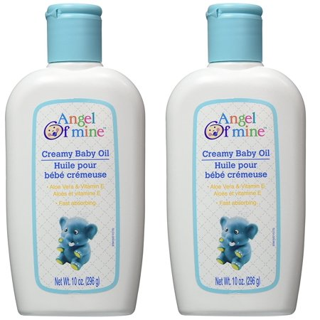 Angel of Mine Creamy Baby Oil with Aloe Vera & Vitamin E - 10 oz (2