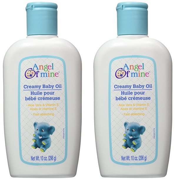 Angel Of Mine Creamy Baby Oil With Aloe Vera Vitamin E 10 Oz