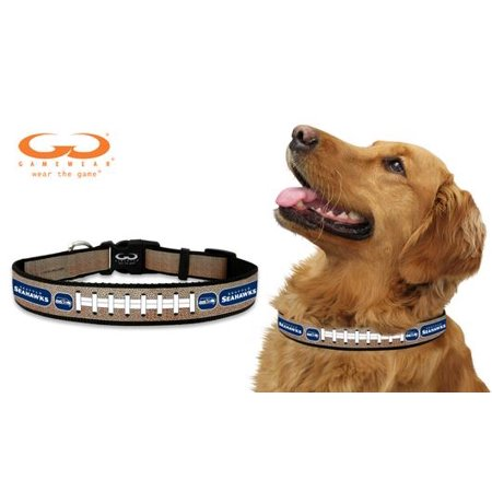 Seattle Seahawks Reflective Medium (M) NFL Football Safety Pet Dog Collar