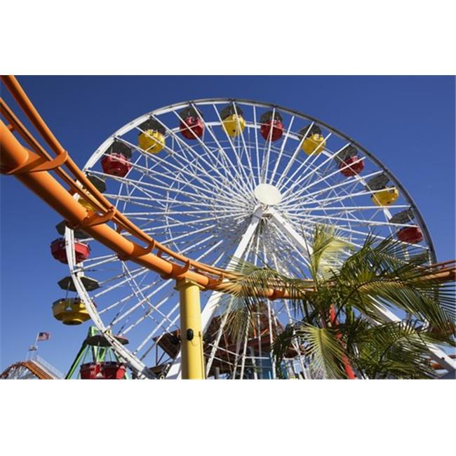 Posterazzi DPI12291415LARGE Roller Coaster & Ferris Wheel Pacific Park - Santa Monica California United States of America Poster Print by Richard Maschmeyer, 38 x 24 - Large - image 1 of 1