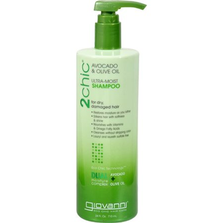 Giovanni 2chic Ultra-Moist Shampoo with Avocado & Olive Oil, 24 Fl -