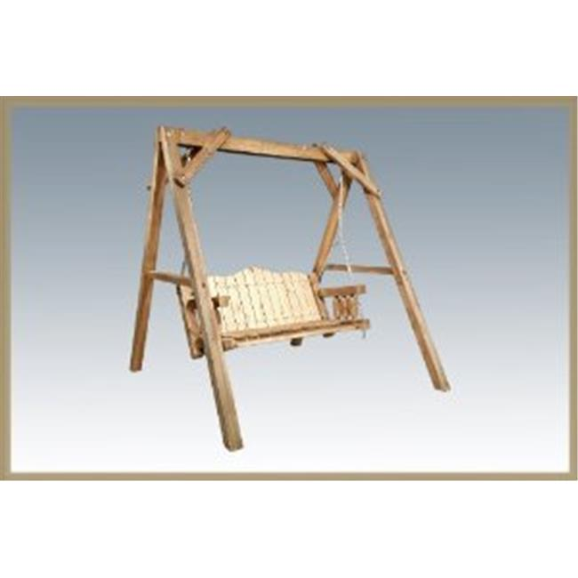 Homestead Collection Lawn Swing with A Frame Exterior Stain