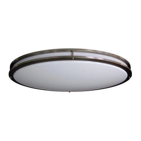 new product 1e65d d3533 Amax Lighting LED-JR005NKL LED Ceiling Fixtures Oval Two Ring Flush Mount  Ceiling Fixture