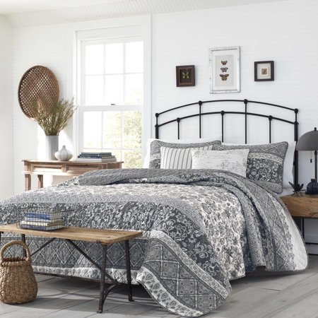 - Stone Cottage Abbey Grey Quilt Set, Full/Queen